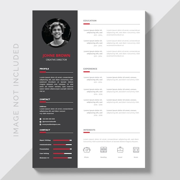 Editable CV Format Download Free Vector