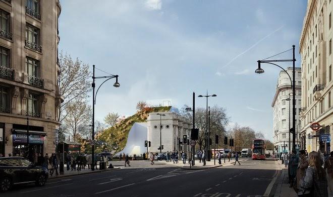 Проект рукотворного холма позволит увидеть Лондон с непривычной стороны