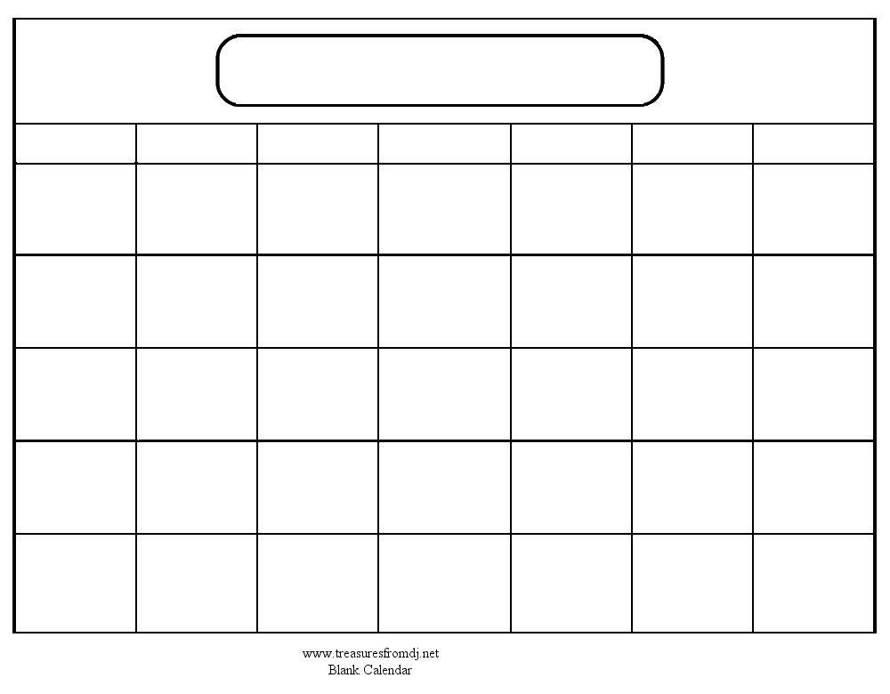 1000+ ideas about Blank Calendar on Pinterest | Blank calendar ...