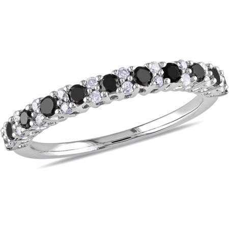 1/2 Carat T.W. Round Black and White Diamond Eternity Ring