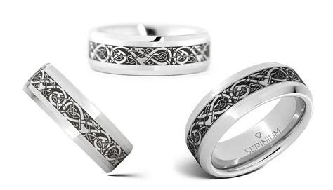 Viking, the traditional Norse pattern wedding rings and