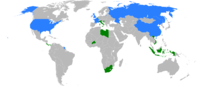 Map of United Nations Security Council in 2008