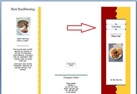 membuat brosur  menarik  ms word panduan