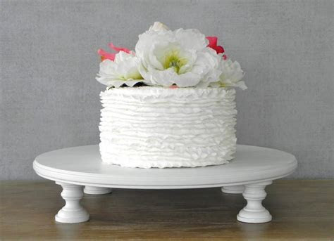 "16"" 16 Inch Wedding Cake Stand Cupcake Round White Rustic"