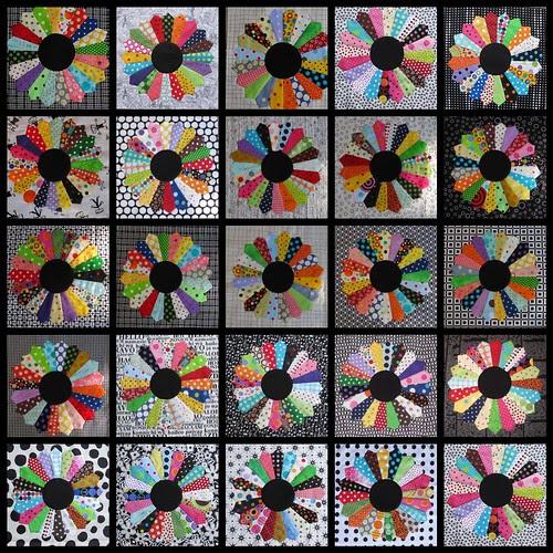 25 Dresden plate blocks done!
