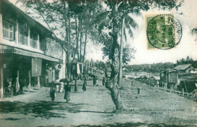 Mỹ Tho 1908 - Quai de l'Arroyo de la Post