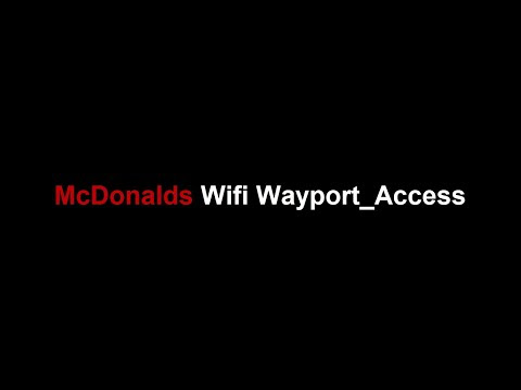 How to Connect with McDonalds Wifi Wayport_Access