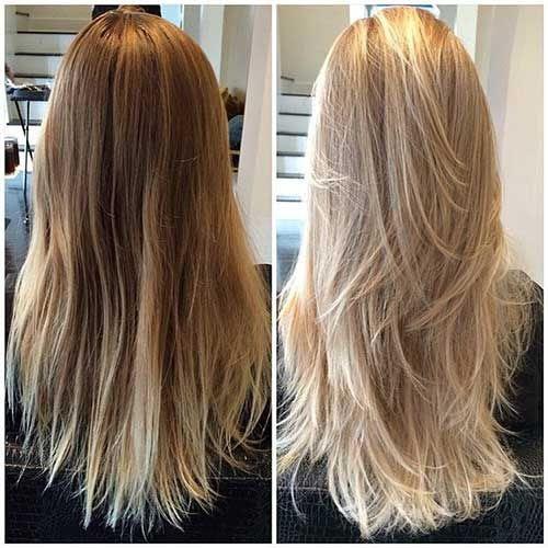 Lange Haare Stufen Oder Nicht Modische Lange Frisuren