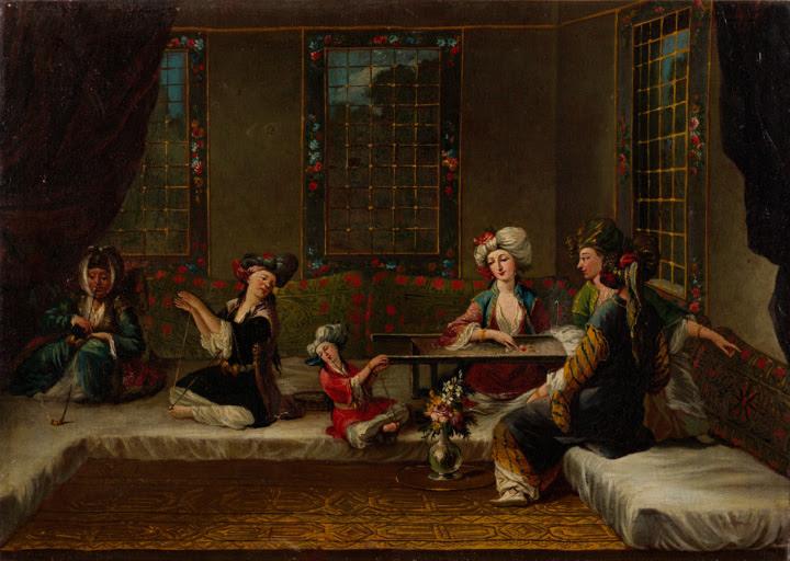 Arméniens-women-broderie-par-Jean-Baptiste-Vanmour