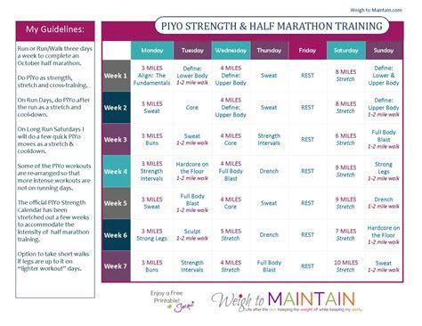 piyo   marathon training health fitness