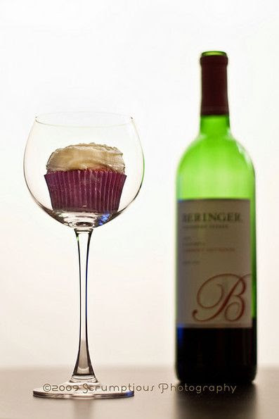 Red wine cupcakes for adult birthdays