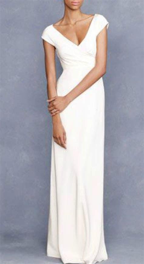 Simple Elegant Cap Sleeves Wedding Dress for Older Brides