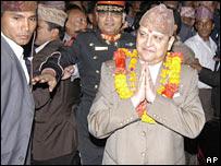Gyanendra at ceremony