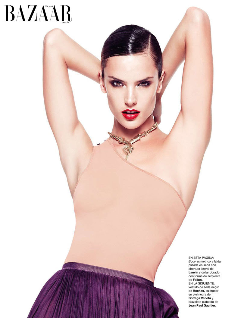 alessandra ambrosio7 Alessandra Ambrosio for <em>Harpers Bazaar Spain</em> February 2011 by Nico