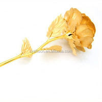 valentines gold dipped rose for love - buy gold