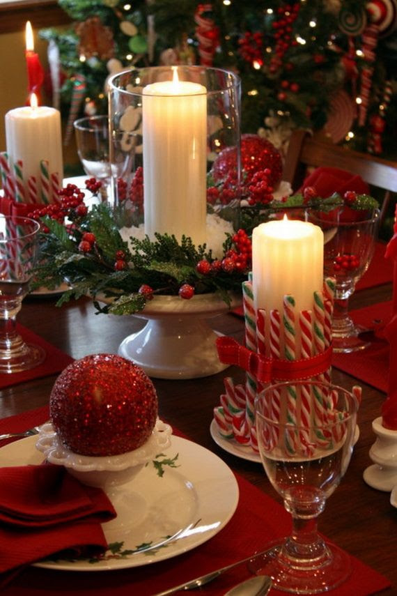 60 Elegant Table Centerpiece Ideas For Christmas 2013 THIS IS AWESOME I FOUND SO MANY IDEALS WITH ALOT OF STUFF , THAT YOU ALREADY HAVE IN YR HOME !!!!!!!! BEAUTIFUL TABLE SETTINGS !!! Love love