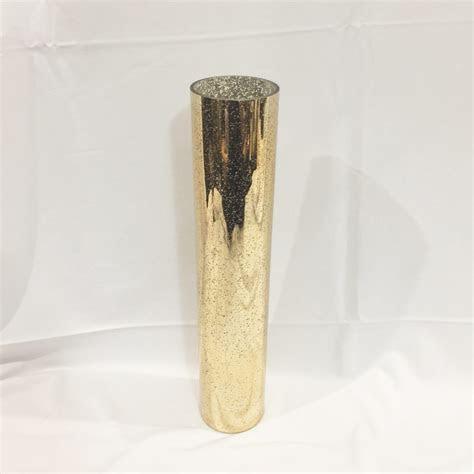 christina gold tall cylinder mercury vase  rental