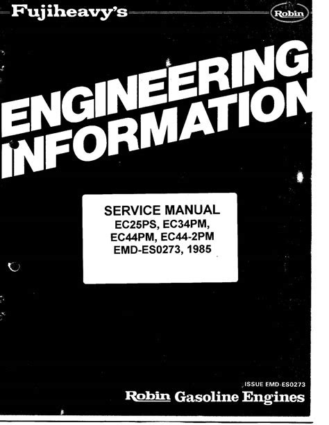 Calaméo - Ec25 Robin Engine Service Manual