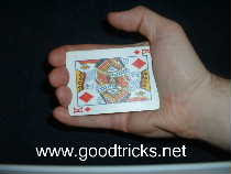 Hold small stack of cards in palm position in your hand.