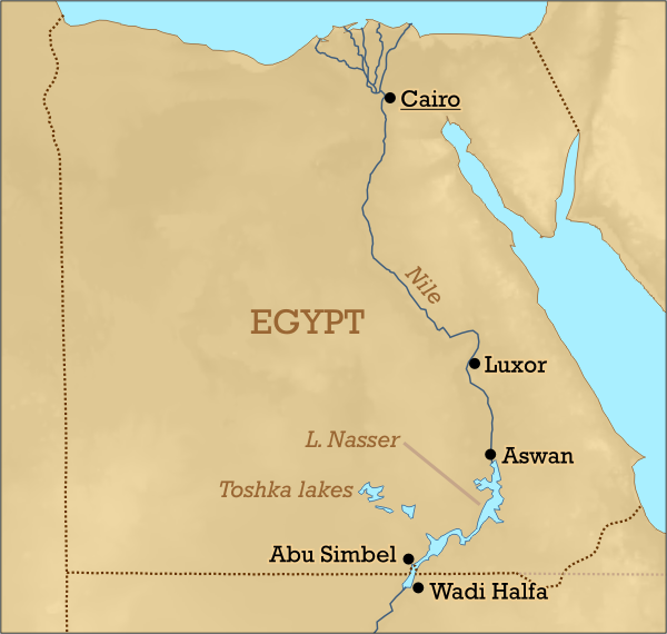 Where Is Lake Nasser In Africa On Map Map Of Africa: Lake Nasser Africa Map