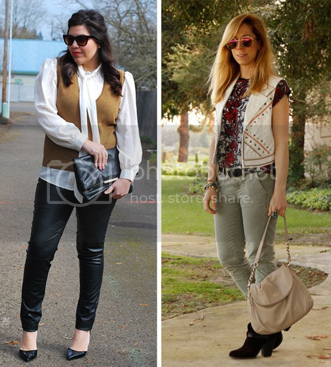fashion bloggers wearing faux leather