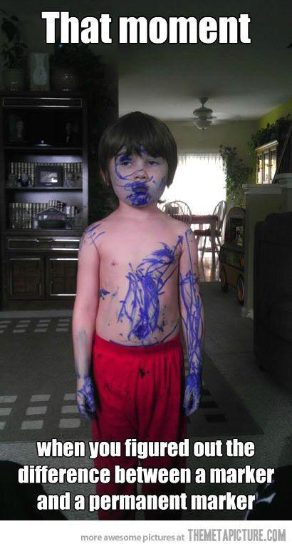 kid found a marker