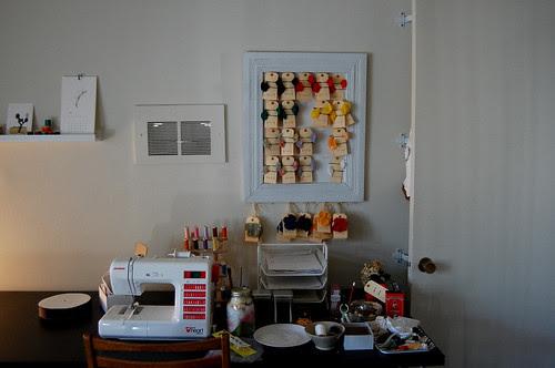 work room, chaos