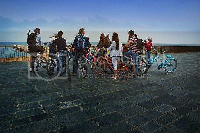 Guided Bike Tours at La Barceloneta, Barcelona, Spain [enlarge]