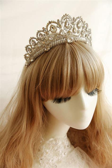 upscale Korean bridal tiara large quinceanera crown