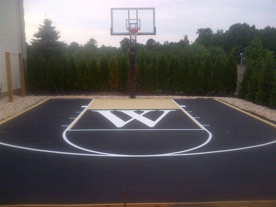 backyard basketball court ideas 13
