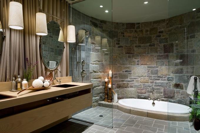 12 Luxury Bathrooms With Stone Walls Maison Valentina Blog