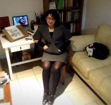 La ilustradora Idalia Candelas en su estudio de la Ciudad de México.