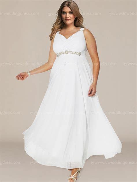 Plus Size Wedding Dress with Empire Waist $238
