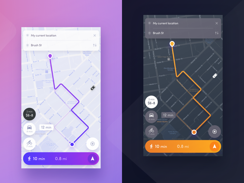 30 Inspiring Map Ui Design For Mobile App On Air Code