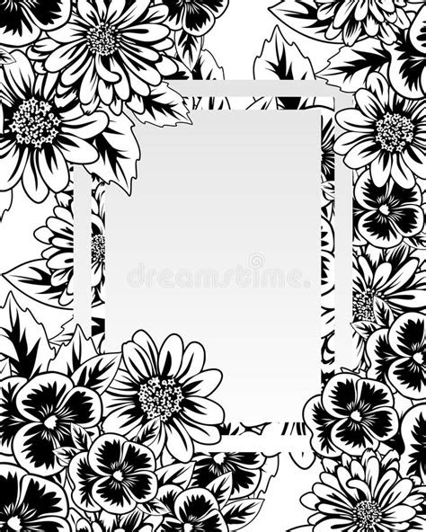 Frame with flowers stock vector. Illustration of leaflet