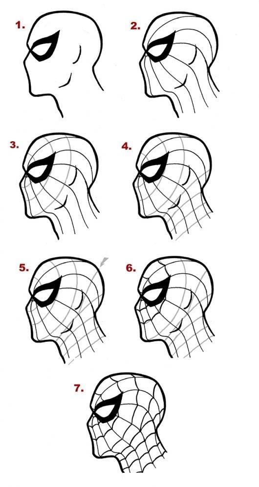 Como Aprender A Dibujar Al Hombre Arana En 7 Pasos Para Pintar Y