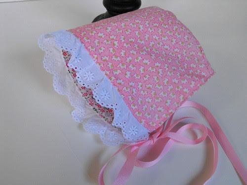 Pink Elephants - Reversible Bonnet