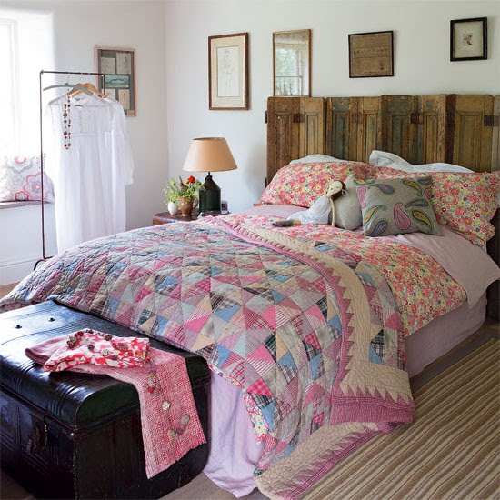 Patchwork bedroom | Country bedroom idea | Bedroom decorating | Image | Housetohome