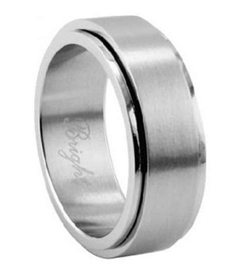 mens spinner ring  stainless steel traditional style mm