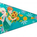 Bandeirinha Sanduiche 5 Frozen Fever Cute
