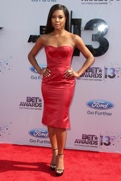Actress Gabrielle Union attends the 2013 BET Awards at Nokia Theatre L.A. Live on June 30, 2013 in Los Angeles, California.