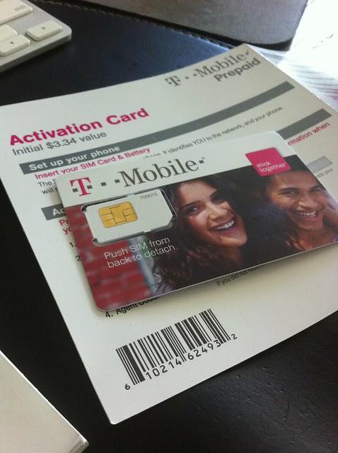 T-Mobile Prepaid SIM Card