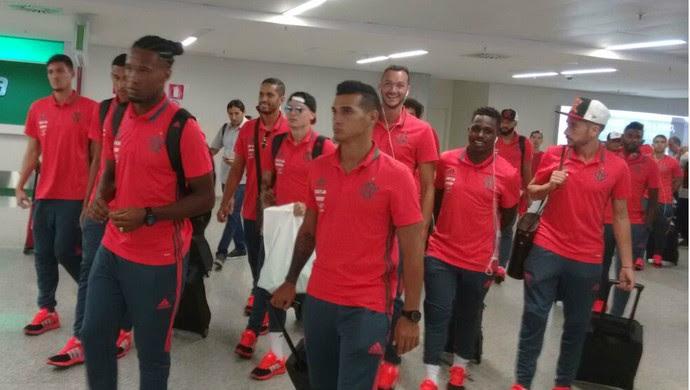 RN - desembarque Flamengo Natal - Trauco (Foto: Jobson Ribeiro)