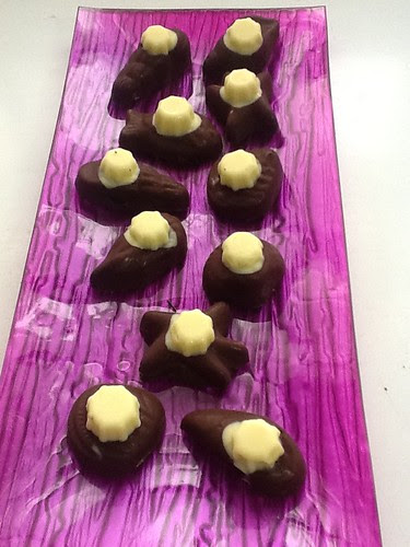 Bombones rellenos de Hierbabuena y coco