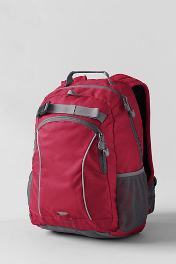 Solid ClassMate  Medium Backpack - Red,