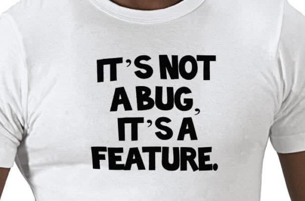 tshirt bug feature