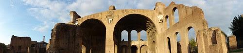 Panorama of Basilica of Maxentius