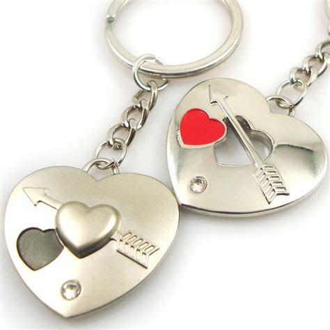 Fashion cheap metal keychain wedding gifts for couple
