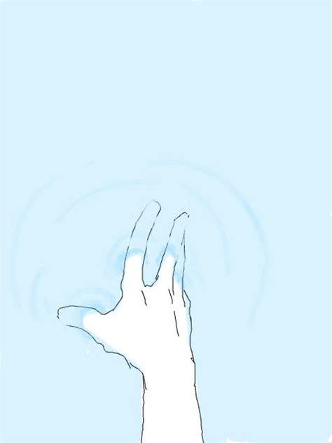 water hand  anime bild