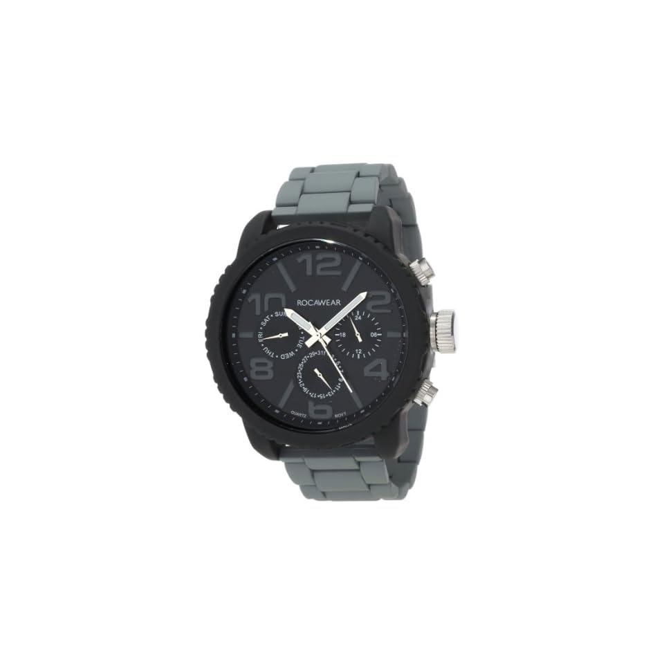 Rocawear Mens Rm0115bk1 734 Stylish Bracelet Enamel Bezel Watch On